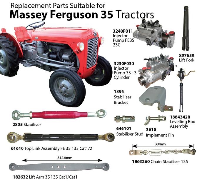 Ferguson 35 Parts : Tarporley tractors massey ferguson replacement parts